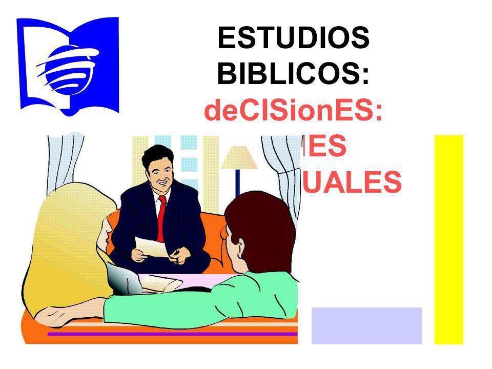 ESTUDIOS BIBLICOS: deCISionES: DONES ESPIRITUALES