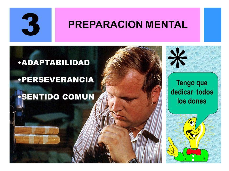 3 PREPARACION MENTAL ADAPTABILIDAD PERSEVERANCIA Tengo que