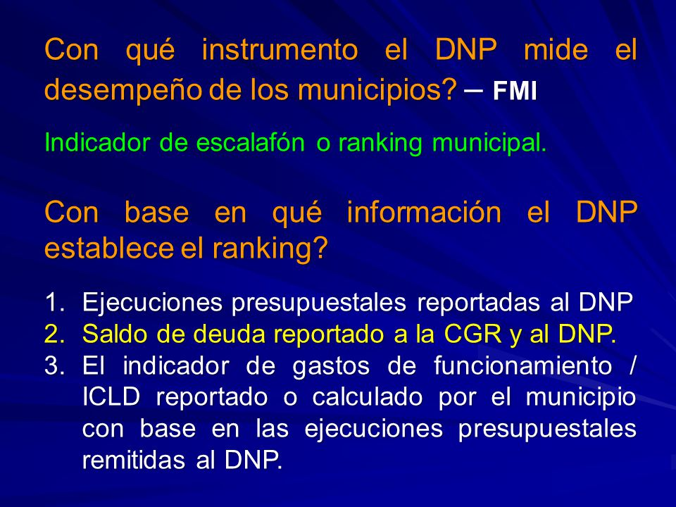 Con qué instrumento el DNP mide el desempeño de los municipios – FMI