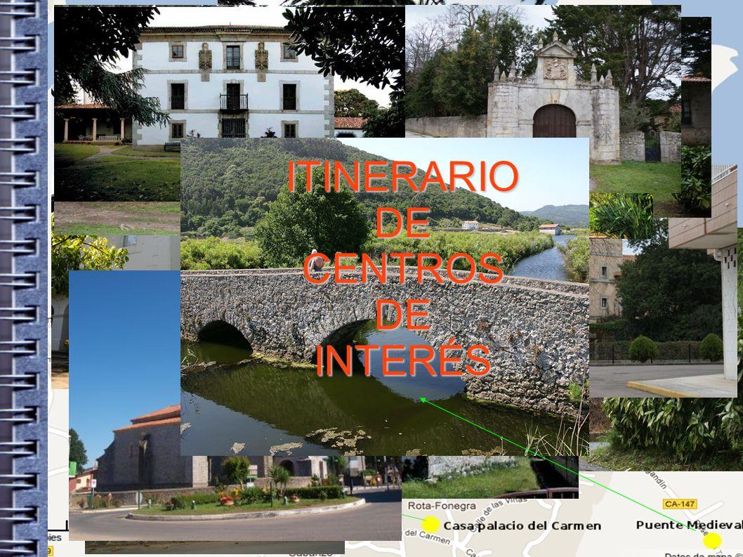 ITINERARIO DE CENTROS INTERÉS