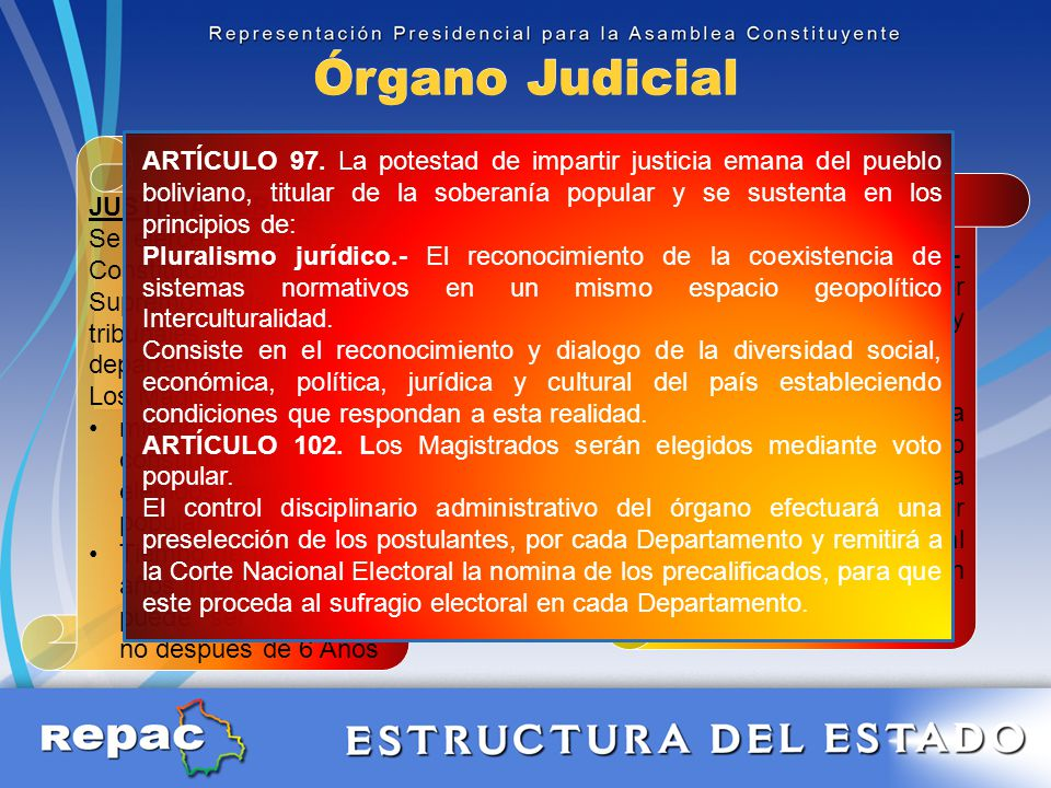 Órgano Judicial Pluralismo Jurídico