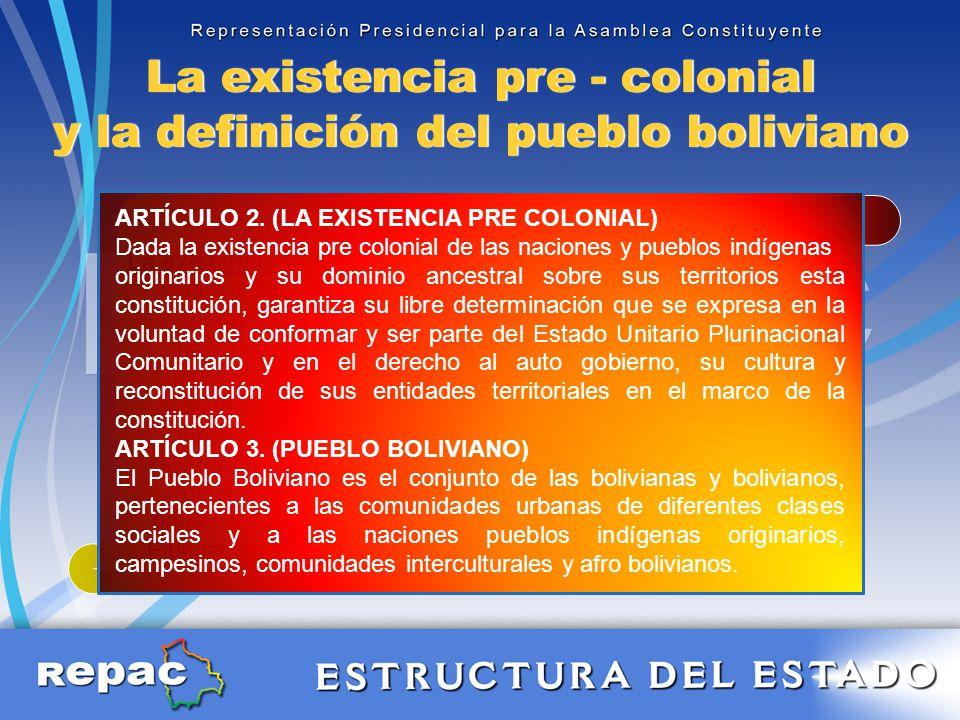 La existencia pre colonial.-
