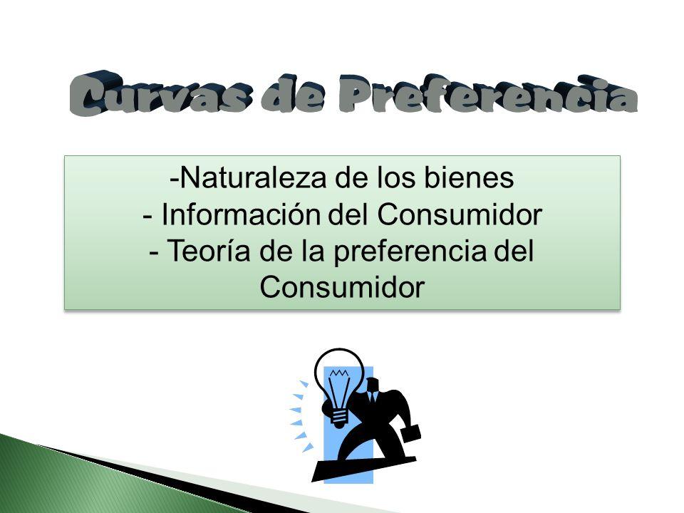 Naturaleza de los bienes Información del Consumidor