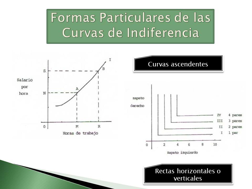 Formas Particulares de las Curvas de Indiferencia