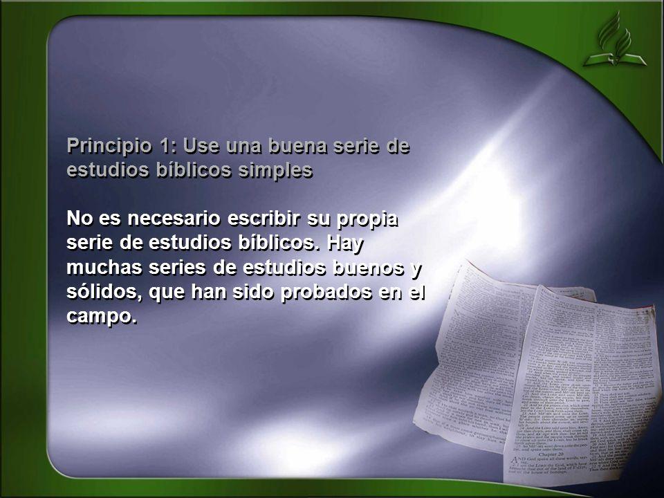 Principio 1: Use una buena serie de estudios bíblicos simples