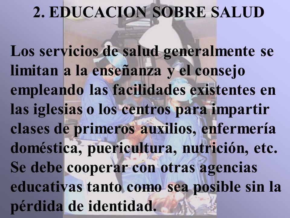 2. EDUCACION SOBRE SALUD