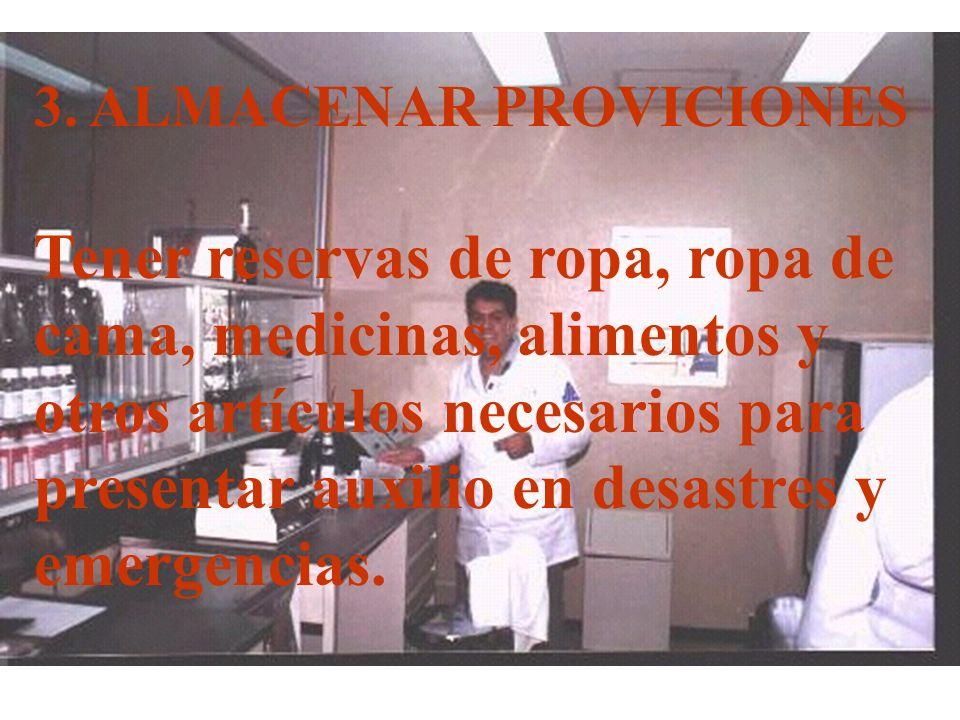 3. ALMACENAR PROVICIONES
