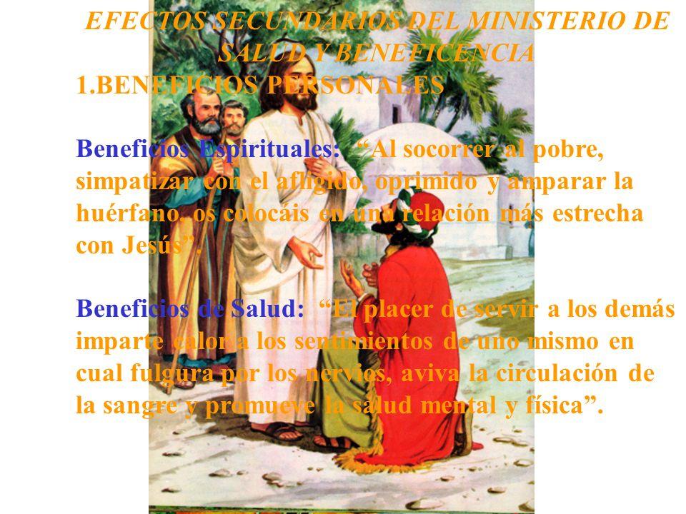 EFECTOS SECUNDARIOS DEL MINISTERIO DE SALUD Y BENEFICENCIA