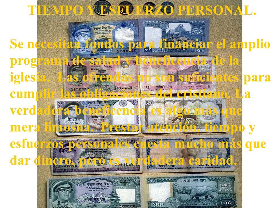 TIEMPO Y ESFUERZO PERSONAL.