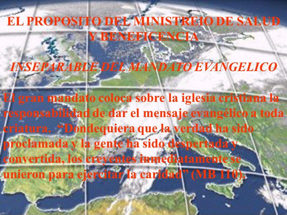 EL PROPOSITO DEL MINISTREIO DE SALUD Y BENEFICENCIA