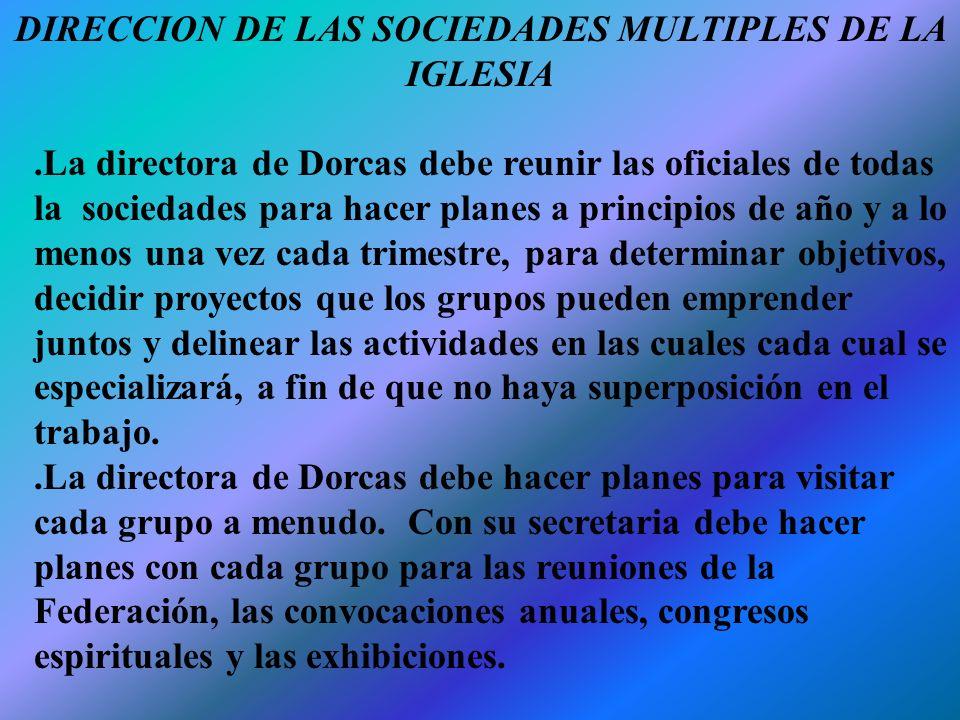 DIRECCION DE LAS SOCIEDADES MULTIPLES DE LA IGLESIA