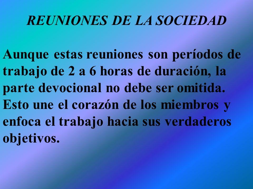 REUNIONES DE LA SOCIEDAD
