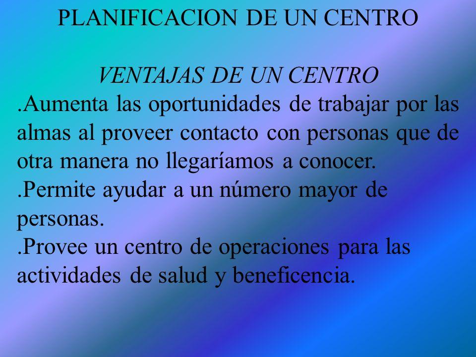 PLANIFICACION DE UN CENTRO