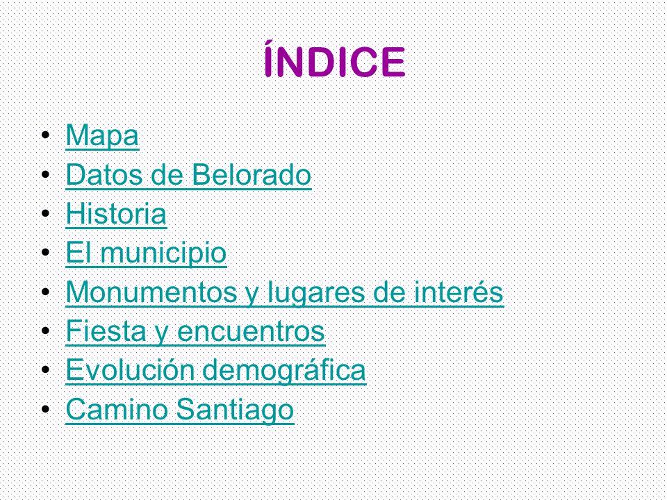 ÍNDICE Mapa Datos de Belorado Historia El municipio