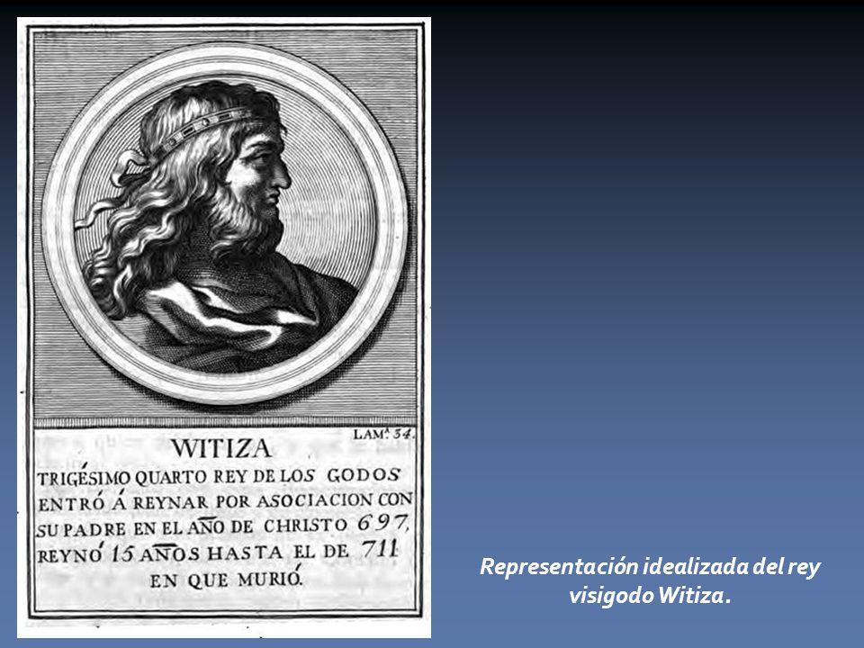 Representación idealizada del rey visigodo Witiza.