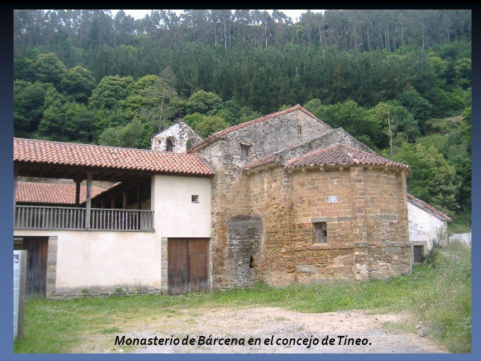 Monasterio de Bárcena en el concejo de Tineo.