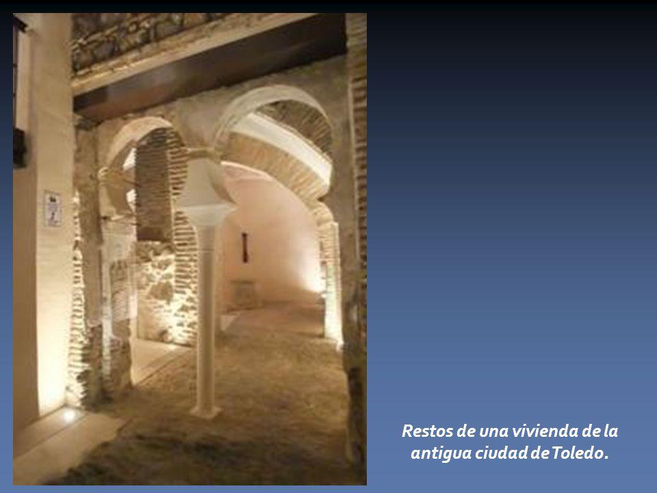 Restos de una vivienda de la antigua ciudad de Toledo.