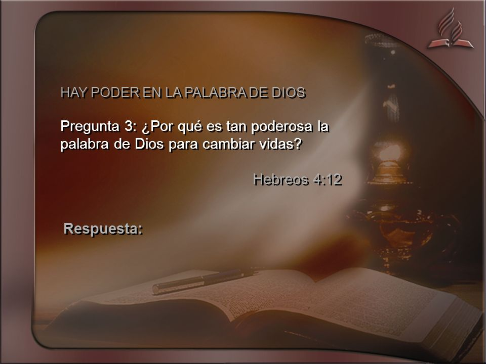 HAY PODER EN LA PALABRA DE DIOS