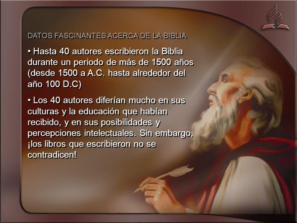 DATOS FASCINANTES ACERCA DE LA BIBLIA