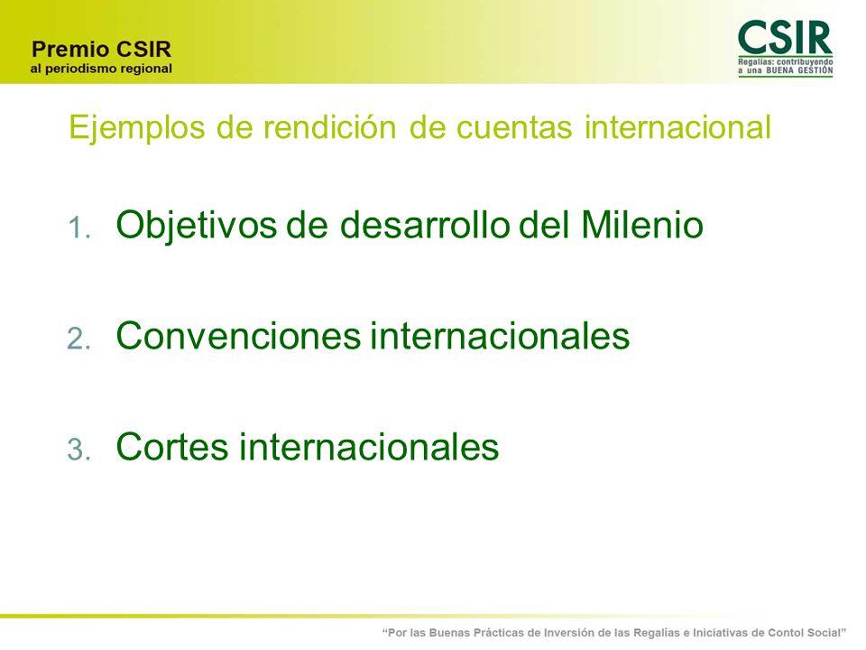 Ejemplos de rendición de cuentas internacional