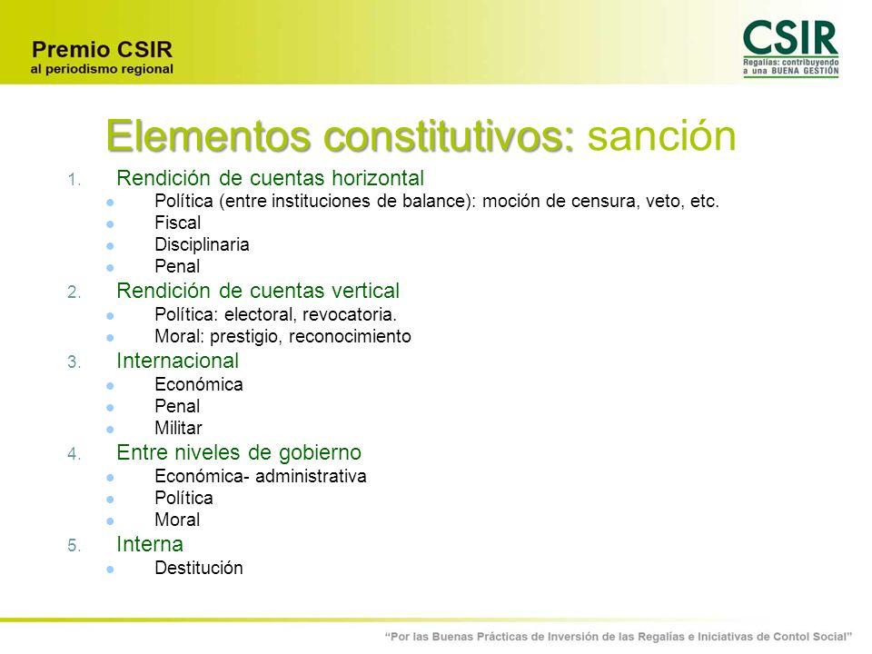 Elementos constitutivos: sanción
