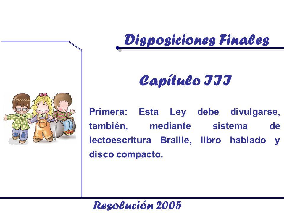 Disposiciones Finales