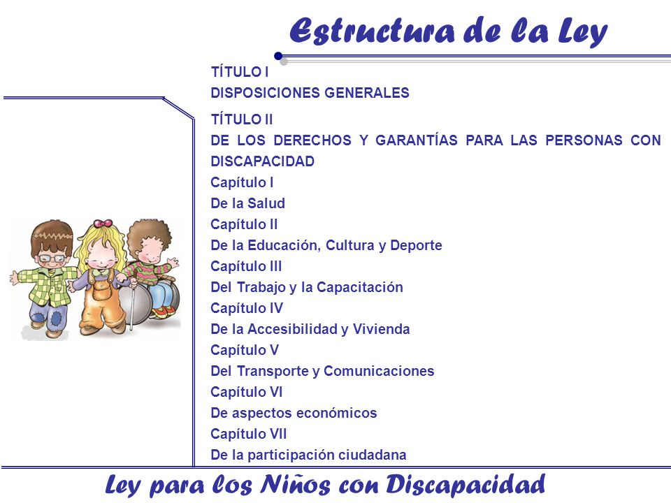 Ley para los Niños con Discapacidad