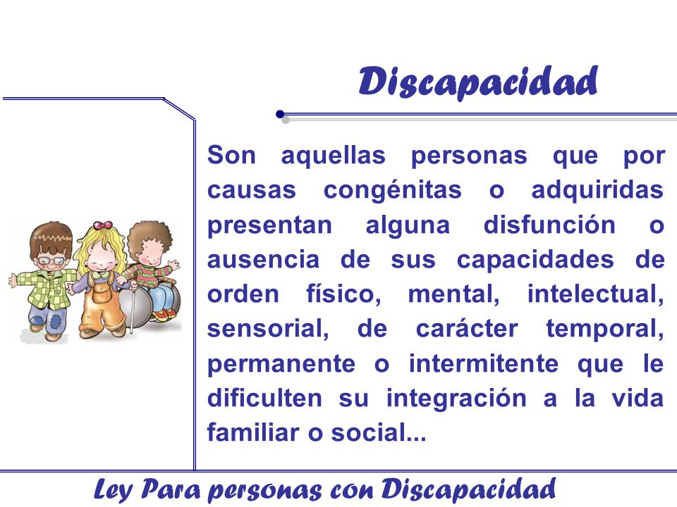Discapacidad Ley Para personas con Discapacidad