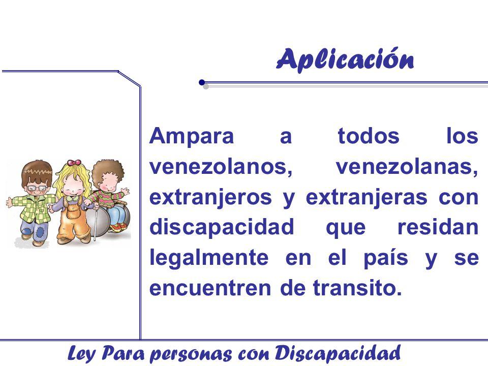 Aplicación Ley Para personas con Discapacidad.