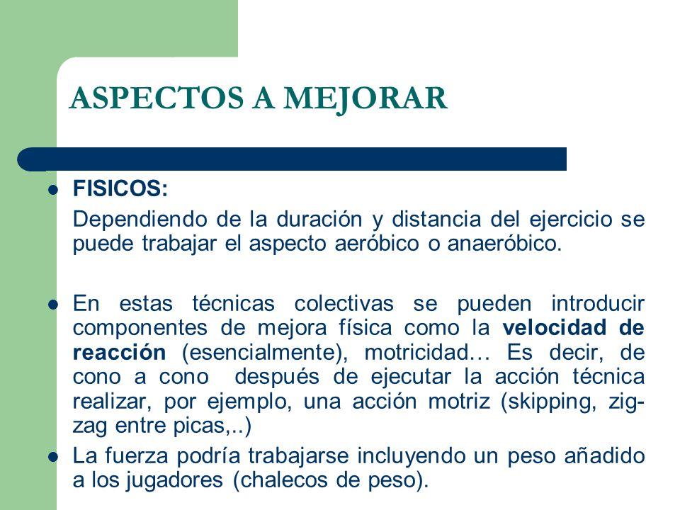 ASPECTOS A MEJORAR FISICOS: