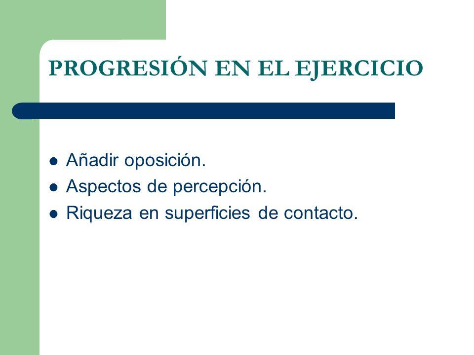 PROGRESIÓN EN EL EJERCICIO
