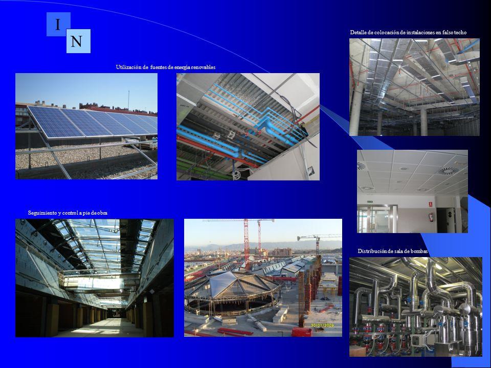 I N Detalle de colocación de instalaciones en falso techo