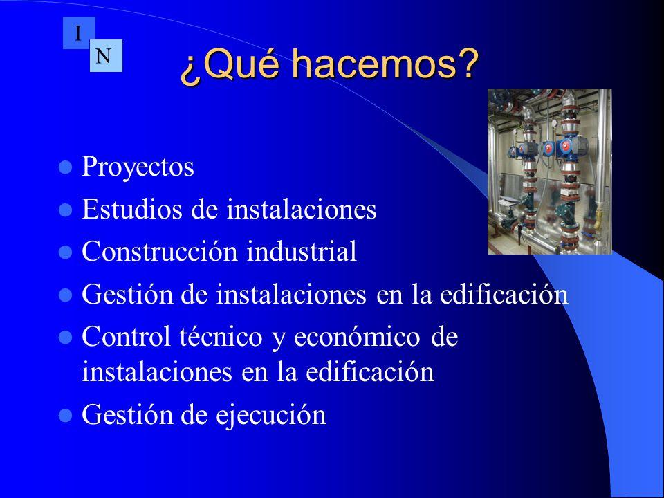 ¿Qué hacemos Proyectos Estudios de instalaciones