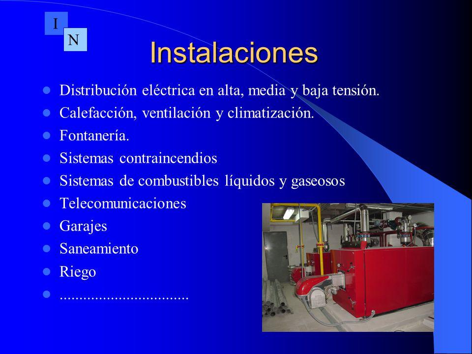 I Instalaciones. N. Distribución eléctrica en alta, media y baja tensión. Calefacción, ventilación y climatización.