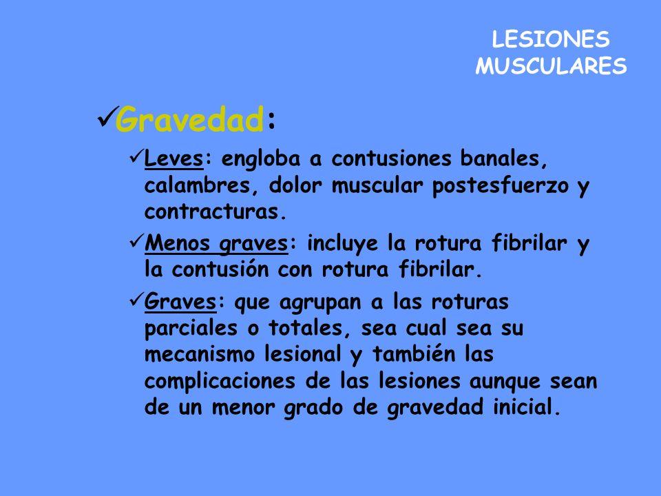 Gravedad: LESIONES MUSCULARES