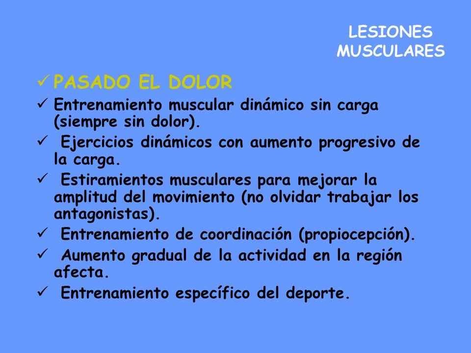 PASADO EL DOLOR LESIONES MUSCULARES