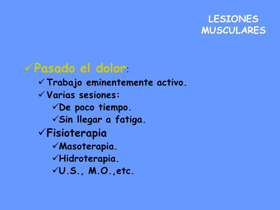 Pasado el dolor: Fisioterapia LESIONES MUSCULARES