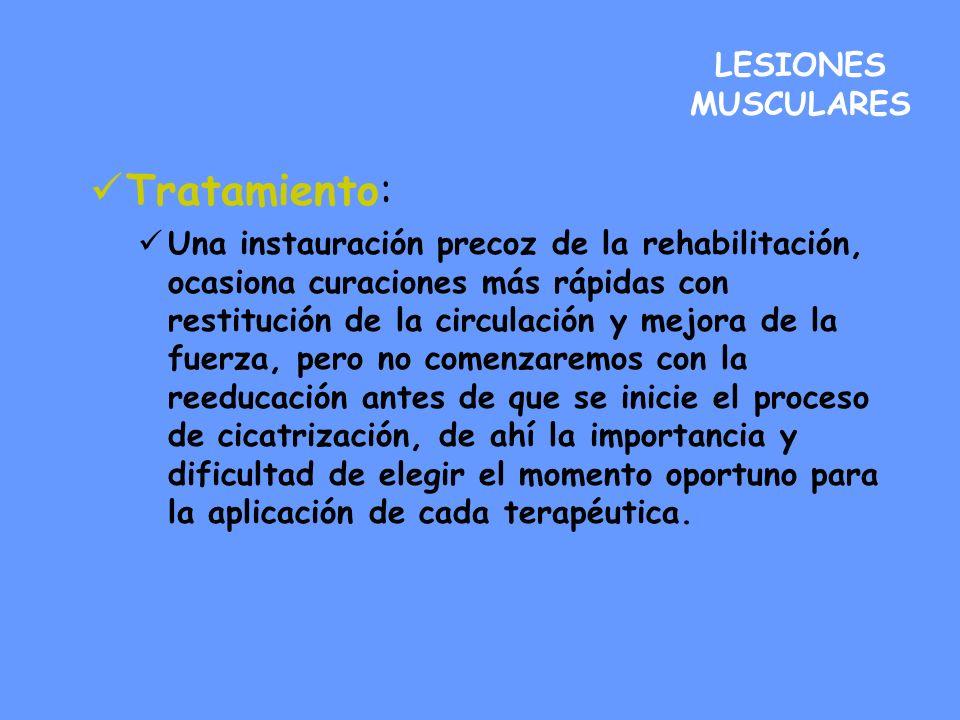 Tratamiento: LESIONES MUSCULARES