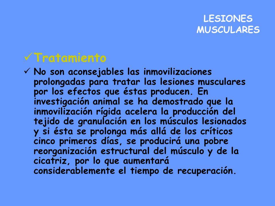 Tratamiento LESIONES MUSCULARES