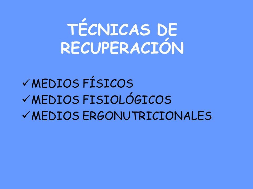 TÉCNICAS DE RECUPERACIÓN