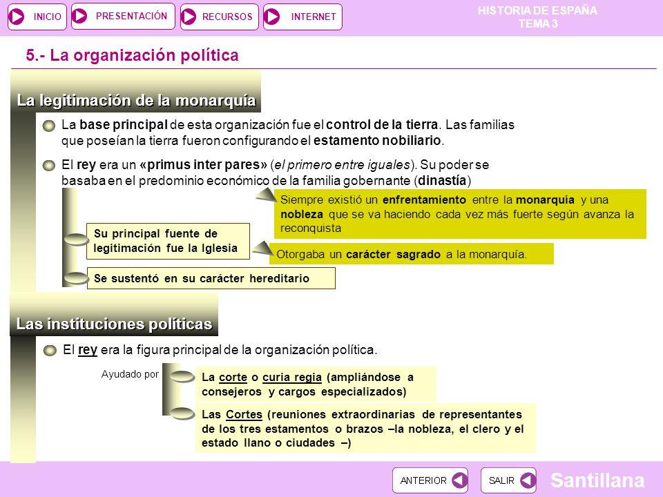 5.- La organización política