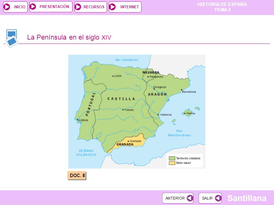 La Península en el siglo XIV