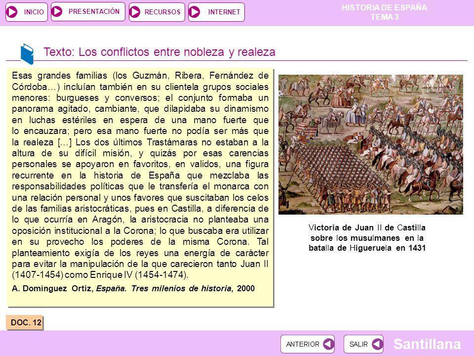 Texto: Los conflictos entre nobleza y realeza