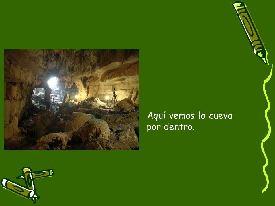 Aquí vemos la cueva por dentro.