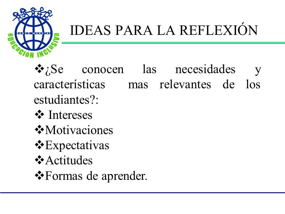 IDEAS PARA LA REFLEXIÓN