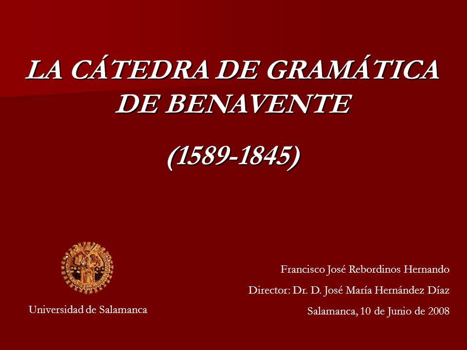 LA CÁTEDRA DE GRAMÁTICA DE BENAVENTE