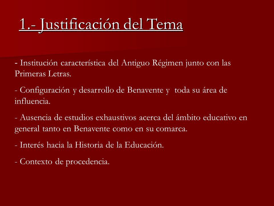 1.- Justificación del Tema