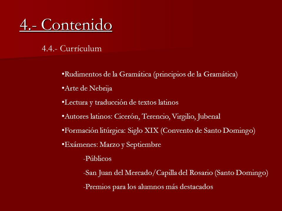 4.- Contenido 4.4.- Currículum
