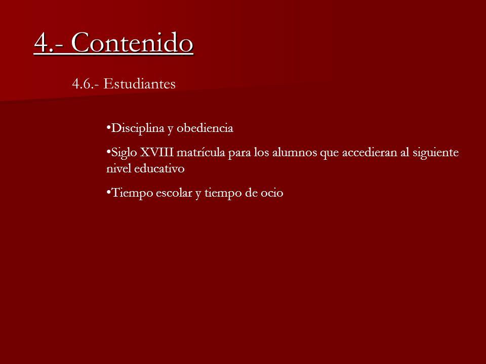 4.- Contenido 4.6.- Estudiantes Disciplina y obediencia