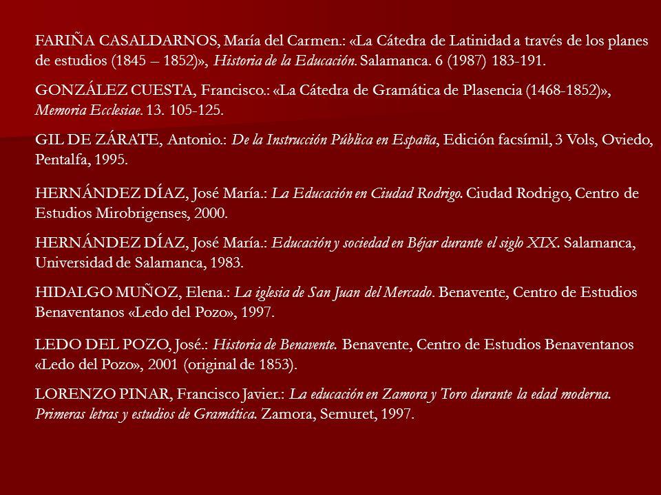 FARIÑA CASALDARNOS, María del Carmen